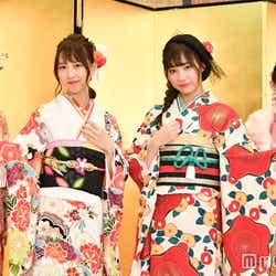 SKE48(左から)佐藤佳穂、熊崎晴香、日高優月、岡田美紅 (C)モデルプレス