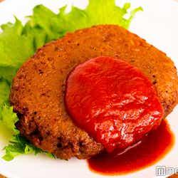 見た目は肉そのもの/「無印良品」大豆ミートシリーズ(ハンバーグ)(C)モデルプレス