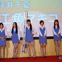 左から:堀内敬子、安藤サクラ、ベッキー、江角マキコ、本田翼、森カンナ、三浦翔平