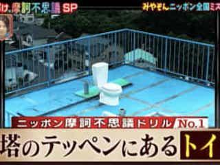 高さ30mもある鉄塔の上にポツン…開放感満点のトイレの正体とは!?