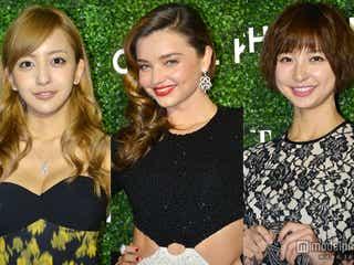 ミランダ・カー、篠田麻里子、板野友美ら豪華セレブリティが華やかドレスで集結<写真特集>