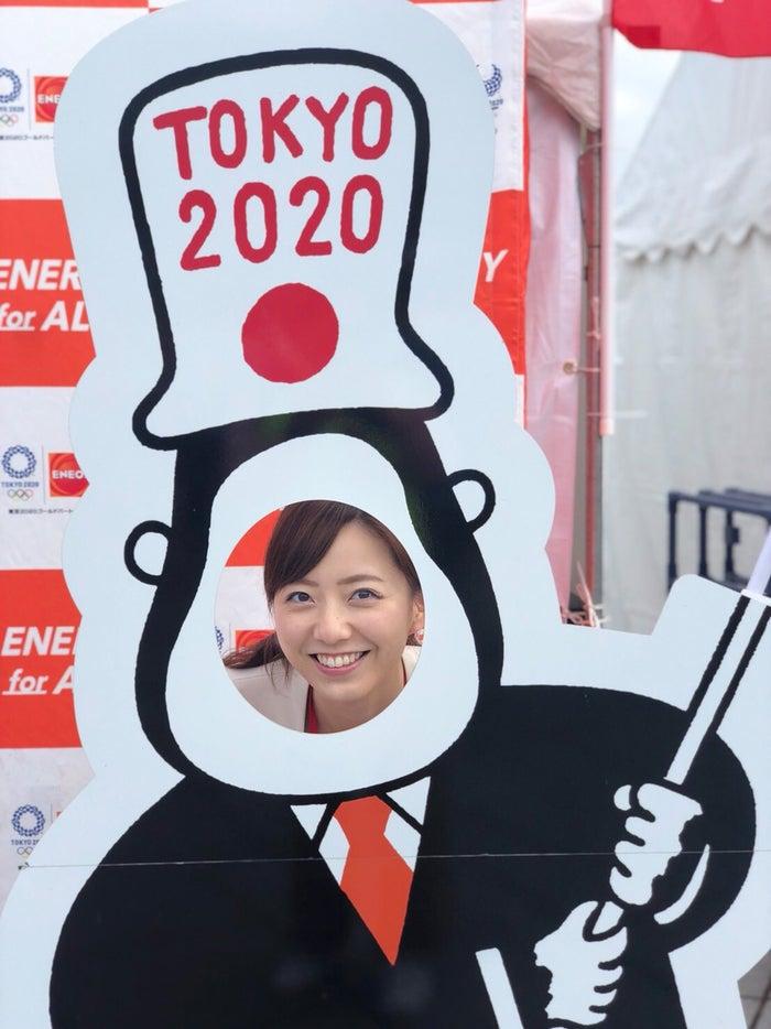 この日はジャパンウォークというイベントの取材に行きました。/内田嶺衣奈アナウンサー(提供写真)