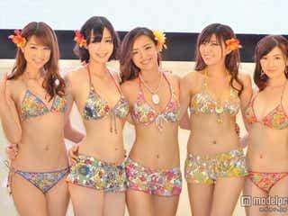斎藤夏美ら5人の冠美女がSEXYビキニで集結 「三愛水着ファッションショー」4年ぶりに復活