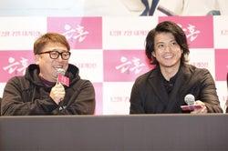 小栗旬「銀魂」で7年ぶり2回目の訪韓 福田雄一監督はパート2製作状況明かす