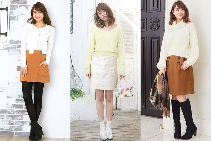 この春美脚見え「台形ミニスカート」人気が止まらない!/画像提供:神戸レタス