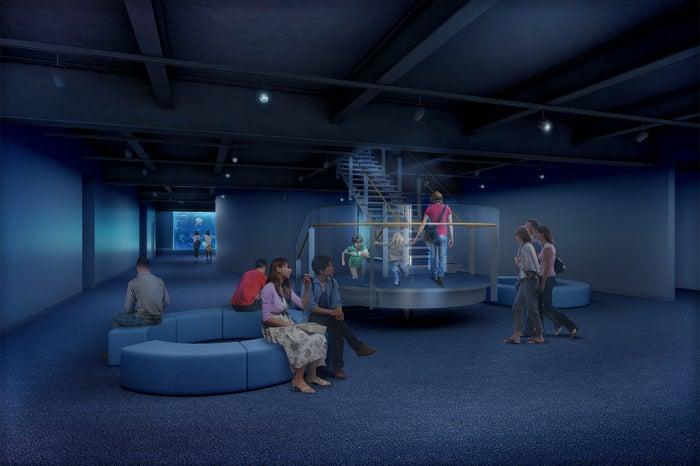 中央コリドール/画像提供:四国水族館開発