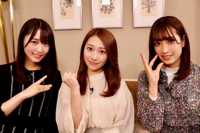 菅井友香、桜井玲香、佐々木久美(C)NHK