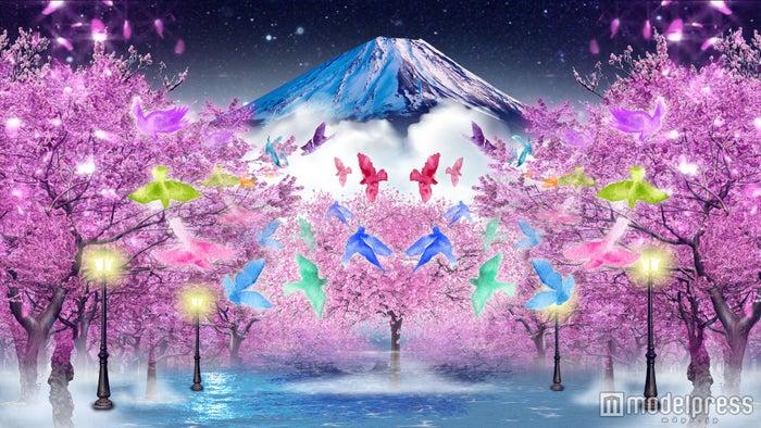 右側壁面イメージ:「夜桜と富士山」イメージ/画像提供:東急不動産SCマネジメント