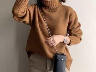 GU(ジーユー)の「ローゲージタートルネックセーター」が使える! 大人っぽくて高見えな旬ニットコーデ10選♥