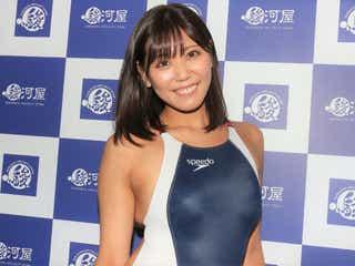 篠原冴美、様々な競泳水着で魅せる 「皆さんが好きなものを探してほしい」
