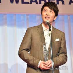スピーチ中に何を話しているのかわからなくなった田中圭(C)モデルプレス