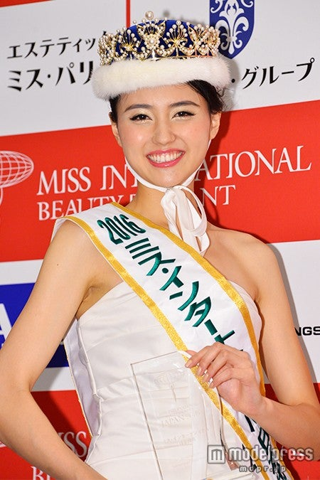 「2016ミス・インターナショナル日本代表」に選ばれた山形純菜さん【モデルプレス】