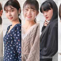 (左から)野口真由、山崎愛麻、牧野莉奈、久保はるか、長瀬礼華(C)モデルプレス