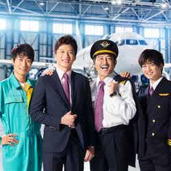 (左から)戸次重幸、田中圭、吉田鋼太郎、千葉雄大(C)テレビ朝日