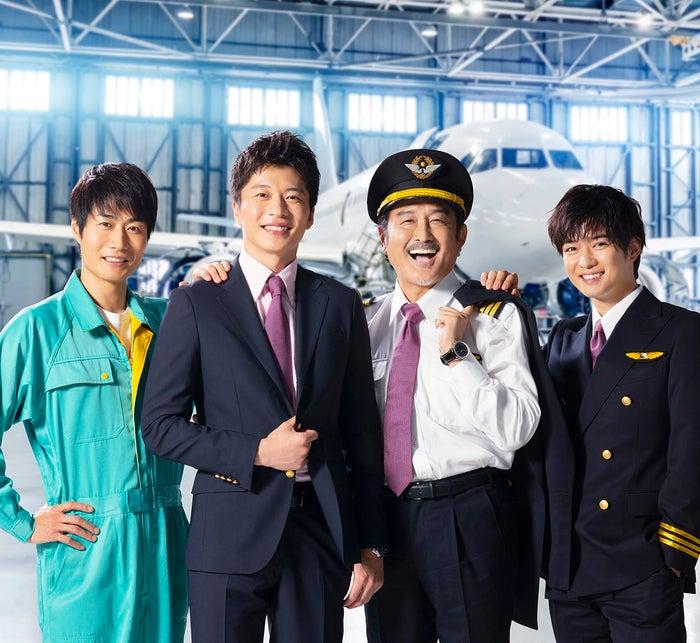 戸次重幸、田中圭、吉田鋼太郎、千葉雄大(C)テレビ朝日