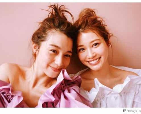 中条あやみ&生見愛瑠、お揃いヘアの密着ショット披露「双子みたい」「仲良し」の声続々