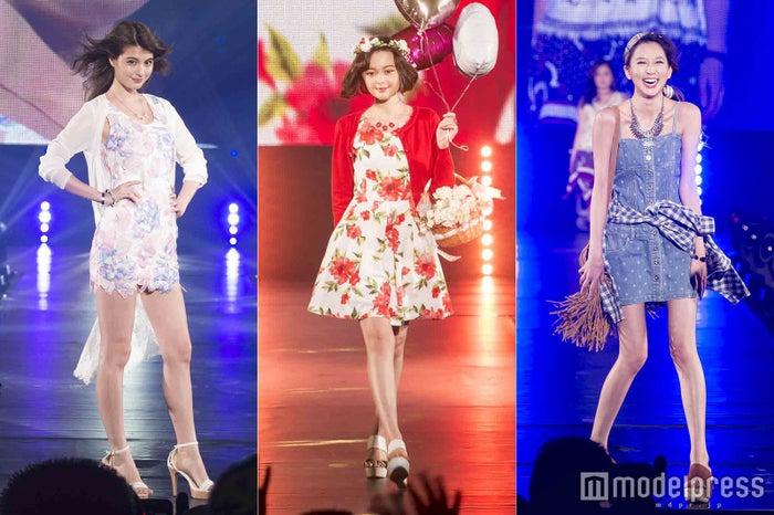 (左から)マギー、玉城ティナ、河北麻友子/HOKURIKU GIRLS GRAND PRIX2016