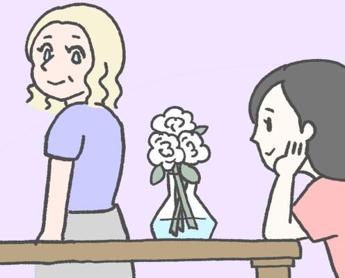 【漫画】国際結婚はじめました!「フランス人と花の関係」
