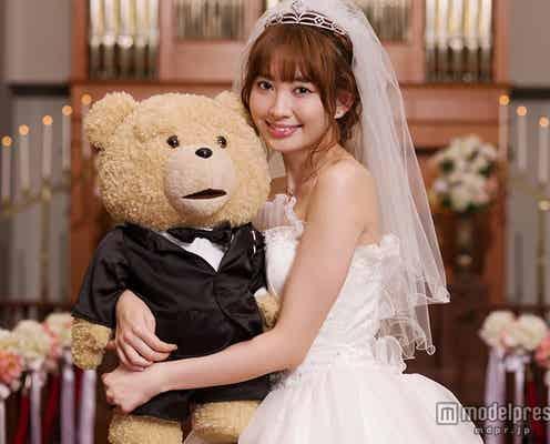 小嶋陽菜「結婚したい!」ウエディングドレスで気合十分