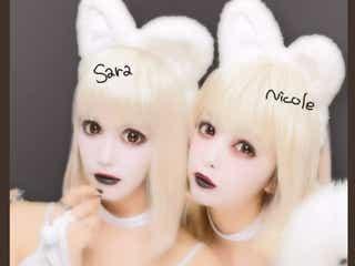 藤田ニコル、紗蘭と白猫ハロウィン仮装で歌舞伎町に出没