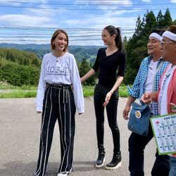 滝沢カレン、菜々緒、富澤たけし、伊達みきお (画像提供:テレビ朝日)