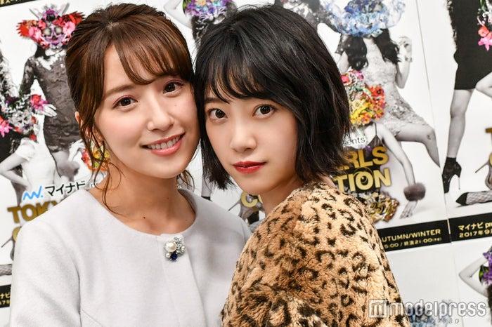 モデルプレスのインタビューに応じた、衛藤美彩&堀未央奈(C)モデルプレス