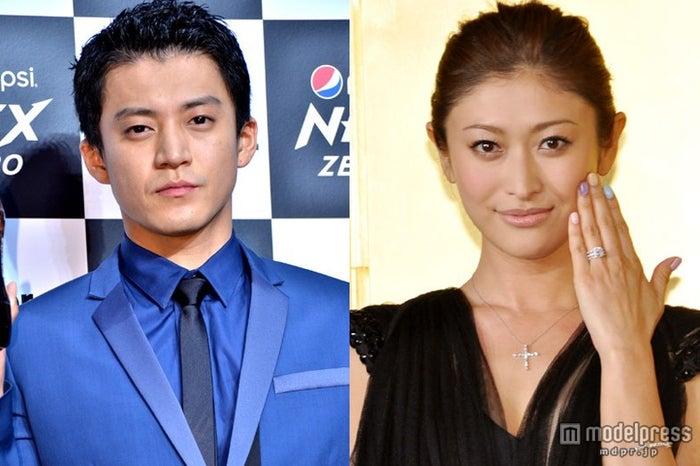 2012年3月に結婚した小栗旬(左)と山田優(右)
