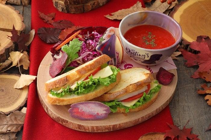 <アナ>欲張りサンドウィッチ&トマトスーププレート 2,390円/スープボウル 付 3,990円(C)Disney