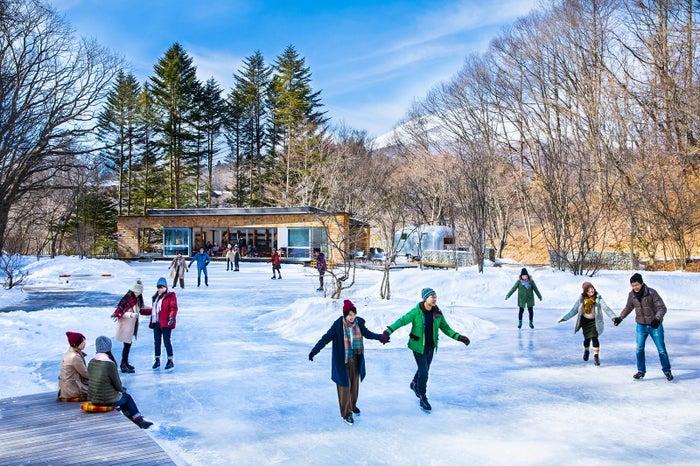天然氷のスケートリンク/画像提供:星野リゾート