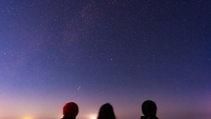 鳥取砂丘から見上げた星空(提供写真)