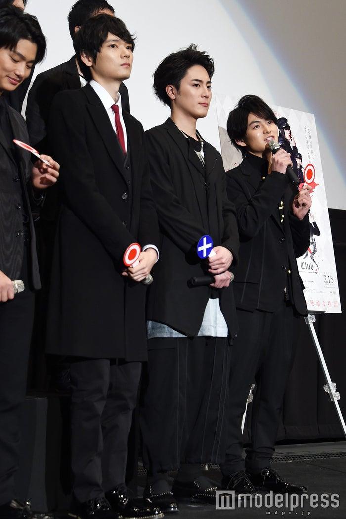 (左から)古川雄輝、間宮祥太朗、松田凌(C)モデルプレス