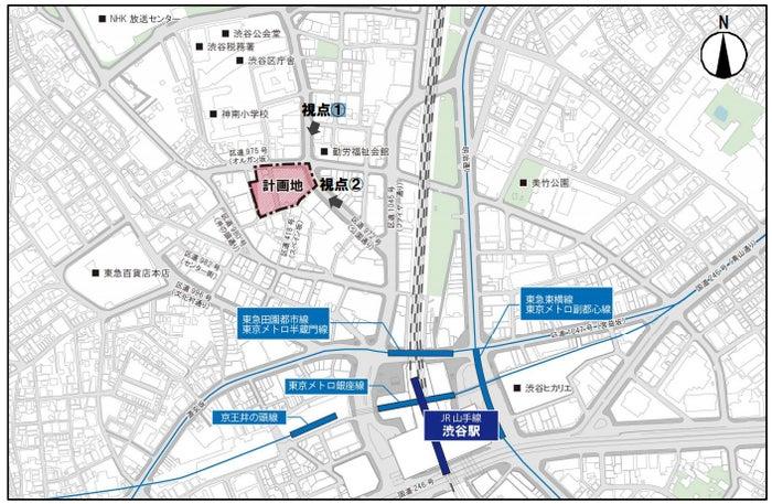 新生渋谷パルコ計画地/パルコ株式会社ニュースリリースより