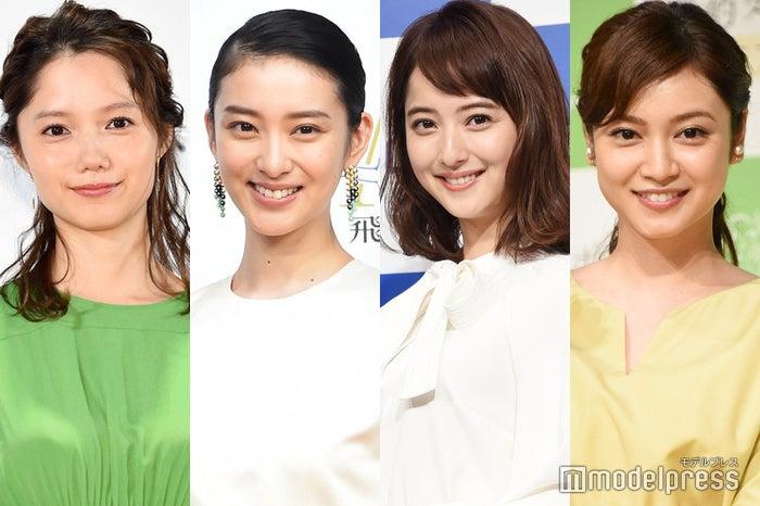 2018年に出産した(左から)宮崎あおい、武井咲、佐々木希、平愛梨(C)モデルプレス