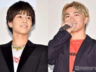 EXILE岩田剛典&NAOTO、2人揃って照れる「目の前でなんて顔してるんですか!?」<HiGH&LOW THE MOVIE 2>