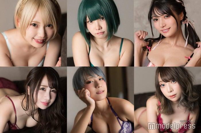 (左から時計回りに)篠崎こころ、えなこ、似鳥沙也加、宮本彩希、つんこ、吉田早希 (C)モデルプレス