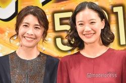 (左から)竹内結子、蒼井優(C)モデルプレス
