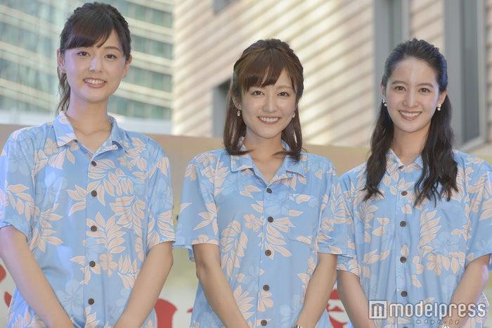 (左から)佐藤梨那アナ、滝菜月アナ、後呂有紗アナ (C)モデルプレス