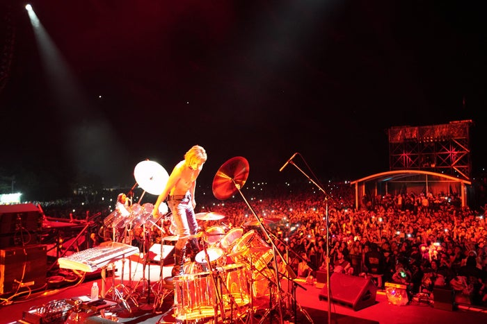 YOSHIKI/「FUJI ROCK FESTIVAL '18」の様子(提供写真)