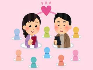 """""""恋の出会い""""でSNSを利用するのは当たり前?SNSキッカケで人と会ったことある割合は…/photo by いらすとや"""