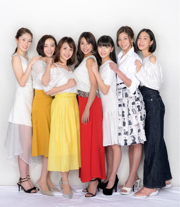 (左から)武井沙都美、渡辺舞、妃海風、広瀬未花、江田友莉亜、青木愛、山代エンナ