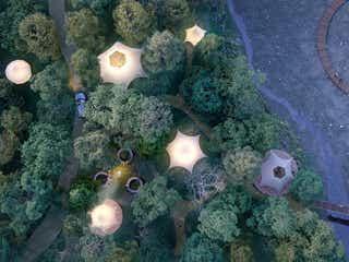 三重にアウトドア施設「Hygge Circles Ugakei」2021年開業、テントやコテージ泊で自然満喫