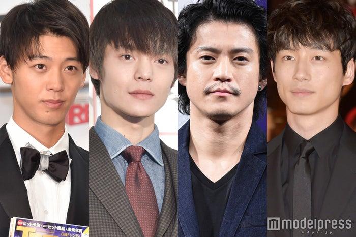 (左から)竹内涼真、窪田正孝、小栗旬、坂口健太郎(C)モデルプレス
