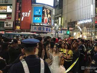 <ハロウィン>渋谷パニック、交差点横断規制機能せず 溢れかえるコス集団