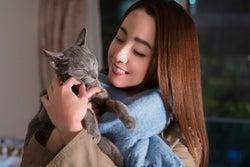 沢尻エリカに「新しい家族」 共演した猫を引き取る<猫は抱くもの>
