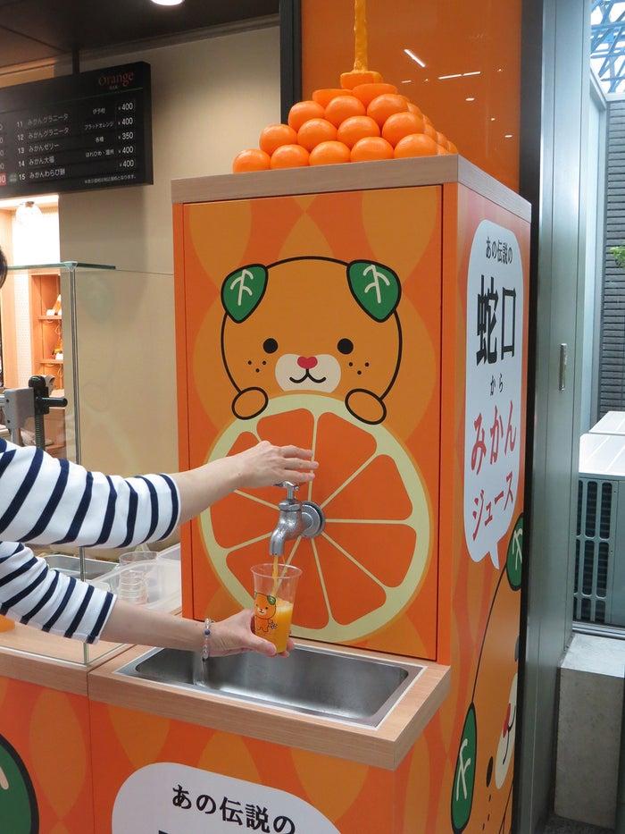 みかん蛇口/画像提供:松山空港ビル株式会社