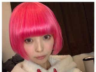 最上もが、ピンクヘアにイメチェン 妊娠中のヘアカラーに言及