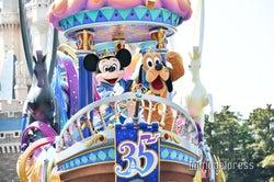 """ディズニー35周年""""Happiest Celebration!""""昼のパレード初お披露目<ドリーミング・アップ!>"""