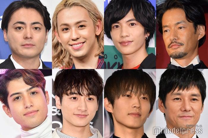 (上段左から)山田孝之、りゅうちぇる、志尊淳、竹野内豊(下段左から)kemio、小関裕太、杉野遥亮、西島秀俊 (C)モデルプレス