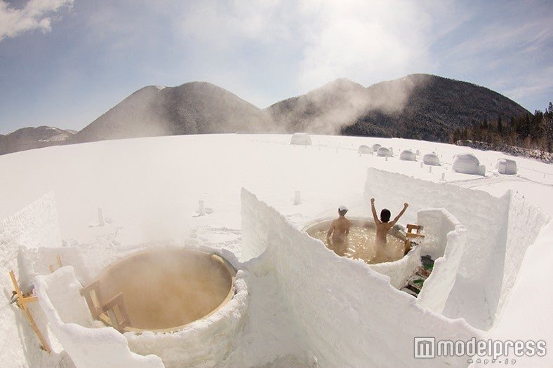 世界に1つだけ!氷上の絶景露天風呂で北海道の大自然に癒やされる♡