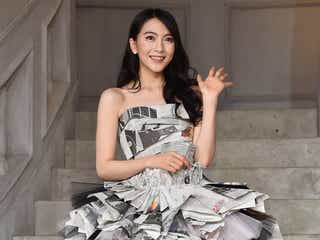 "JY(知英)、衝撃の""手作り新聞紙ドレス""で登場 撮影裏話明かす"